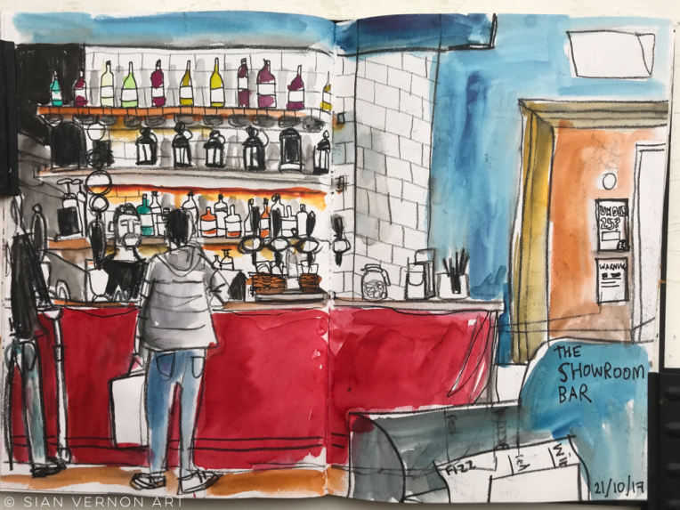 Urban sketching at Showroom Bar, SHEFFIELD