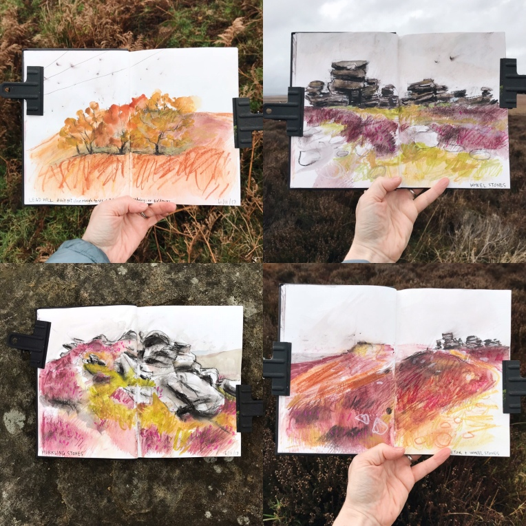Sketches from my Derwent Edge walk
