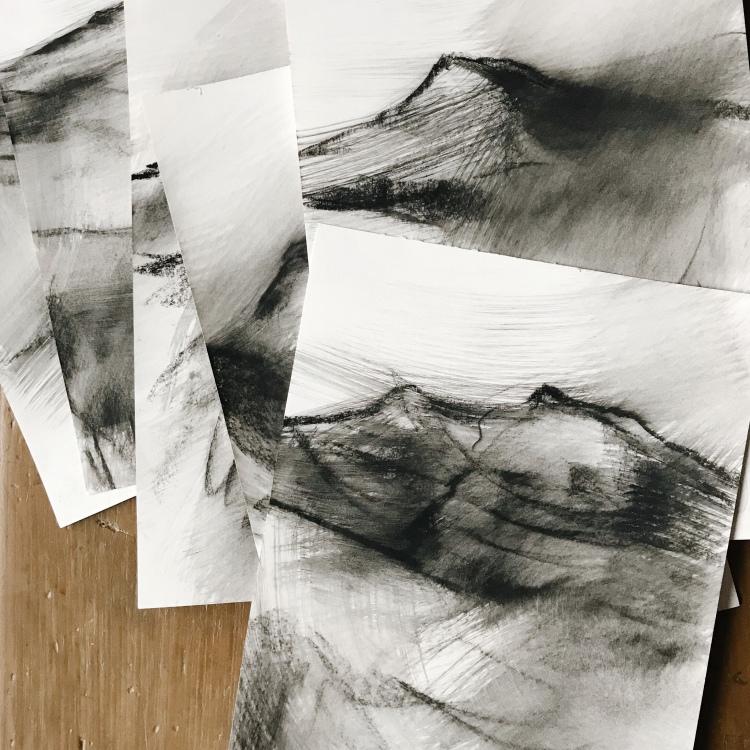 Peak District landscape drawings for sale
