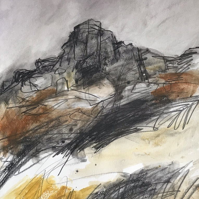 Over Owler Tor West, original Peak District art by SHEFFIELD artist Sian Vernon