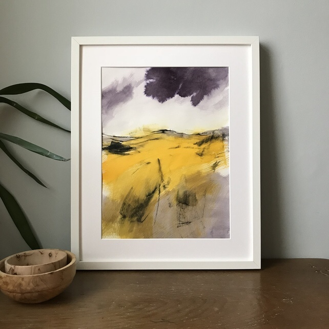 DeAutumn Glow, rwent Edge Peak District painting by local artist Sian Vernon
