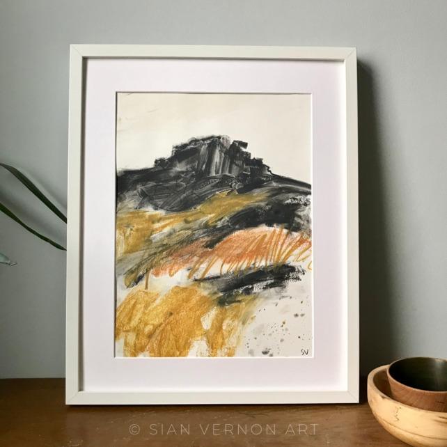 Peak District landscape painting, Over Owler Tor, Hathersage